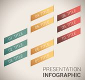 Modern soft color Design template / infographics Royalty Free Stock Photography