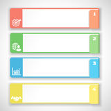 Modern soft color Design template.  Infographics. Numbered banners, horizontal cutout lines for graphic or website. illustration Royalty Free Stock Images