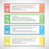 Modern soft color Design template   for. Modern soft color Design template for infographics, numbered banners, horizontal cutout lines for graphic or website Royalty Free Stock Photography