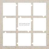 Modern soft color Design. Template of paper Stock Photos