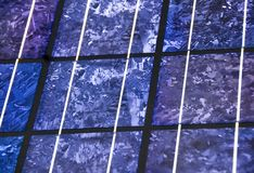 Modern solar cell close-up Royalty Free Stock Photos