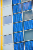 Modern solar cell at a facade Stock Photography