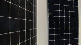 Solar Panels Technology. Modern solar energy panels renewable power eco technology stock footage