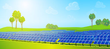 Modern solar panels Royalty Free Stock Photos
