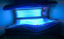 Modern solarium bed Stock Images