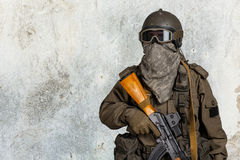 Modern soldier Stock Photography