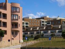 Luxury apartments at Leça da Palmeira beach. Modern and solid construction on this apartments in Leça da Palmeira beach on north Portugal Porto district Stock Photos