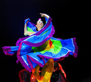 Modern solo dance. CHENGDU - DEC 10: chinese modern solo dance Taste of Yi village performed by Beijing Song and Dance Troupe at Golden theater in the 7th Royalty Free Stock Images