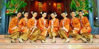 Modern Songket klänning Royaltyfria Foton