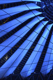 Modern Sony Center Berlin. The modern sony center in Berlin, Germany at night light up royalty free stock image