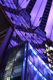 Modern Sony Center Berlin. The modern sony center in Berlin, Germany at night lit up stock images