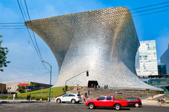 The modern Soumaya art museum in Mexico City. MEXICO CITY,MEXICO - DECEMBER 26, 2016 : The modern Soumaya art museum in Mexico City Stock Image