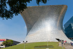 The modern Soumaya museum of art in Mexico City. MEXICO CITY,MEXICO - DECEMBER 25,2016 : The modern Soumaya museum of art in Mexico City Stock Photography