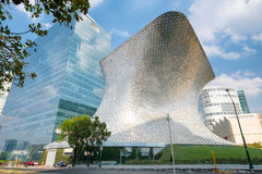 The modern Soumaya museum of art in Mexico City. MEXICO CITY,MEXICO - DECEMBER 25,2016 : The modern Soumaya museum of art in Mexico City Stock Photo
