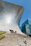 The modern Soumaya museum of art in Mexico City. MEXICO CITY,MEXICO - DECEMBER 25,2016 : The modern Soumaya museum of art in Mexico City Stock Image