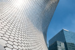 The modern Soumaya museum of art in Mexico City. MEXICO CITY,MEXICO - DECEMBER 25,2016 : The modern Soumaya museum of art in Mexico City Royalty Free Stock Photography