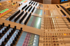 Modern sound desk Royalty Free Stock Photos