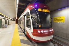 Modern spårvagn i Toronto, Kanada Royaltyfri Fotografi
