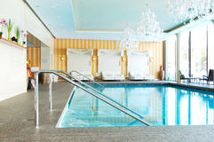 Modern SPA in the luxury hotel at ski resort stock photography