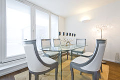 Modern and spacious dining space for six Royalty Free Stock Photo