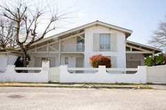 Modern spain french landes basque mansion  style villa house. A Modern spain french landes basque mansion  style villa house royalty free stock photos