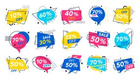 Free Modern Special Offer Badge. Discount Badges, Store Saving Brochure And Percentage Off Deal Voucher Label Vector Set Royalty Free Stock Photo - 160965155