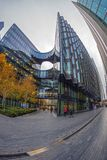 Modern and spectacular office buildings on More London Riversid Royalty Free Stock Photo
