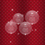 Modern speech bubble infographic elements. Luxury background Stock Images
