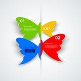Modern speech bubble template, number options Stock Photos