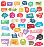Modern speech bubbles collection Royalty Free Stock Photography