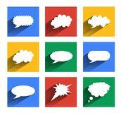 Modern speech bubbles se Royalty Free Stock Photography