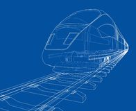 Modern speed train concept. Vector vector illustration