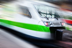 Modern speed train Stock Photos