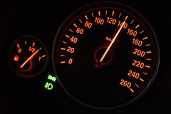 Modern speedometer in a car Royalty Free Stock Photo