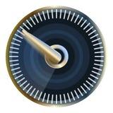 Modern speedometer icon, cartoon style vector illustration