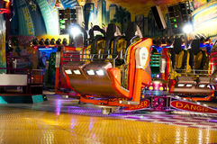 Modern spinning fun fair carousel Stock Image
