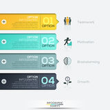 Modern spiral infographics options banner. Modern paper infographics options banner. Vector illustration. can be used for workflow layout, diagram, number Stock Photography