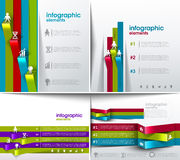Modern spiral infographics options banner Royalty Free Stock Photo