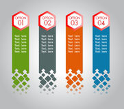 Modern spiral infographics options banner. Vector illustration. can be used for workflow layout, diagram, number options, web design Stock Photo