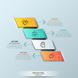 Modern spiral infographics options banner. Stock Photo