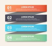 Modern spiral infographics options banner. Royalty Free Stock Photography