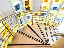 Modern spiral stairway Stock Photography