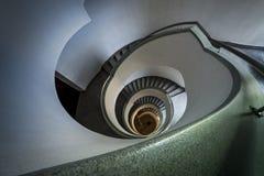 Modern spiral trappuppgång Royaltyfri Fotografi
