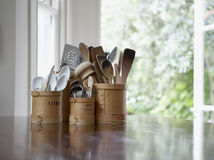 Modern spoon set Stock Photos