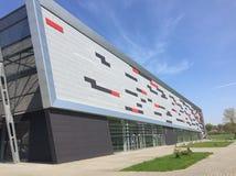 Modern sport arena in Koszalin Poland. Exterior of a Modern sport arena in Koszalin Poland. New original design architecture. Contemporary approach to Royalty Free Stock Photos