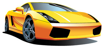 Modern sport car. Vectorial image of modern sport car, isolated on white background. Contained gradients Royalty Free Stock Photography