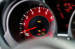 Modern sport car dashboard Stock Image