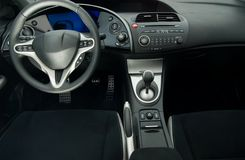 Modern sport car interior. Picture of a Modern sport car interior Stock Photo