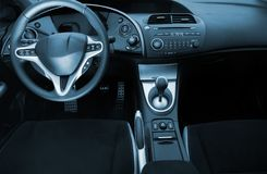 Modern sport car interior. Picture of a Modern sport car interior Stock Photos