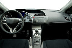 Modern sport car interior. Picture of a Modern sport car interior royalty free stock photos